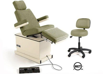 Hill HA90P Podiatry Medical Chair with Power Elevation, Back and Tilt