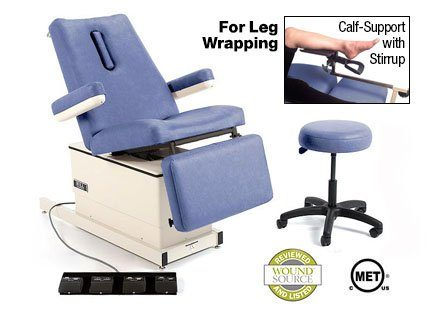 Hill HA90W Wound Care Medical Chair Deluxe with Hi-Lo Power Elevation, Back, Tilt and Foot